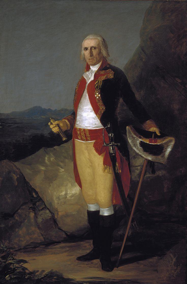 """Francisco de Goya: """"El general don José de Urrutia"""". Oil on canvas, 199,5 x 134,5 cm, c. 1798. Museo Nacional del Prado, Madrid, Spain"""