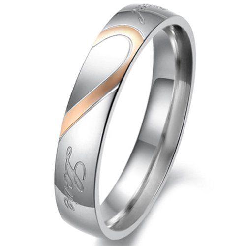 Sale Preis: JewelryWe Schmuck Partnerringe, Freundschaftsringe, Edelstahl, Herz, Damen-Ring, Gold Silber, Größe 49 - mit Geschenk Tüte. Gutscheine & Coole Geschenke für Frauen, Männer & Freunde. Kaufen auf http://coolegeschenkideen.de/jewelrywe-schmuck-partnerringe-freundschaftsringe-edelstahl-herz-damen-ring-gold-silber-groesse-49-mit-geschenk-tuete  #Geschenke #Weihnachtsgeschenke #Geschenkideen #Geburtstagsgeschenk #Amazon