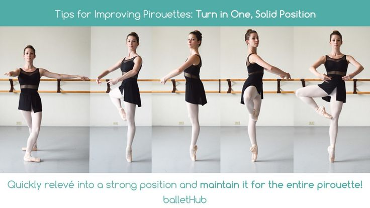 Tips for Improving Pirouettes | Quickly relevé into a strong position and maintain it for the entire pirouette | From BalletHub.com #ballet