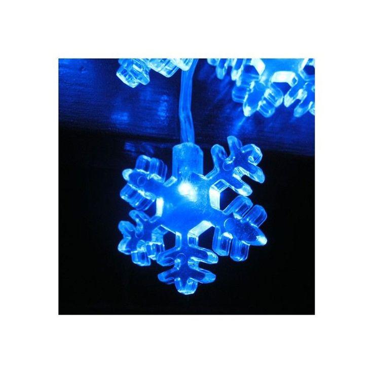 Guirlande Lumineuse Bleue Etoile Des Neiges Intérieur Extérieur – Taille : Taille Unique