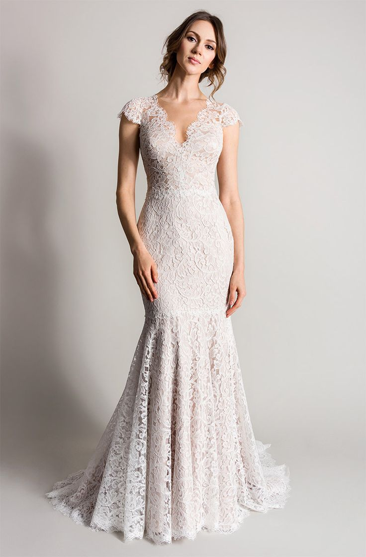 29 best Fishtail Wedding Dresses images on Pinterest Short wedding