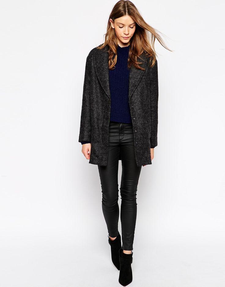 Imagen 4 de Abrigo de lana texturizado de Parka London