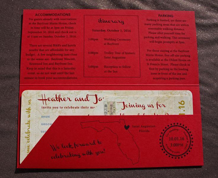 137 best Wedding Invitation Ideas images on Pinterest Invitation - airline ticket invitation