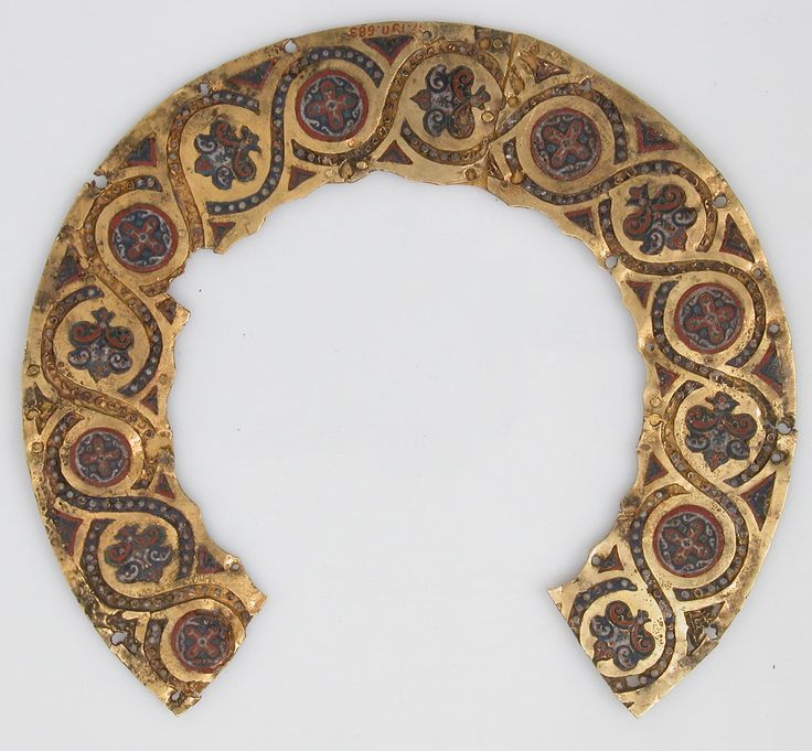Halo from an Icon Cover. Date: 10th–early 11th century. Culture: Byzantine. Medium: Cloisonné enamel, gold.