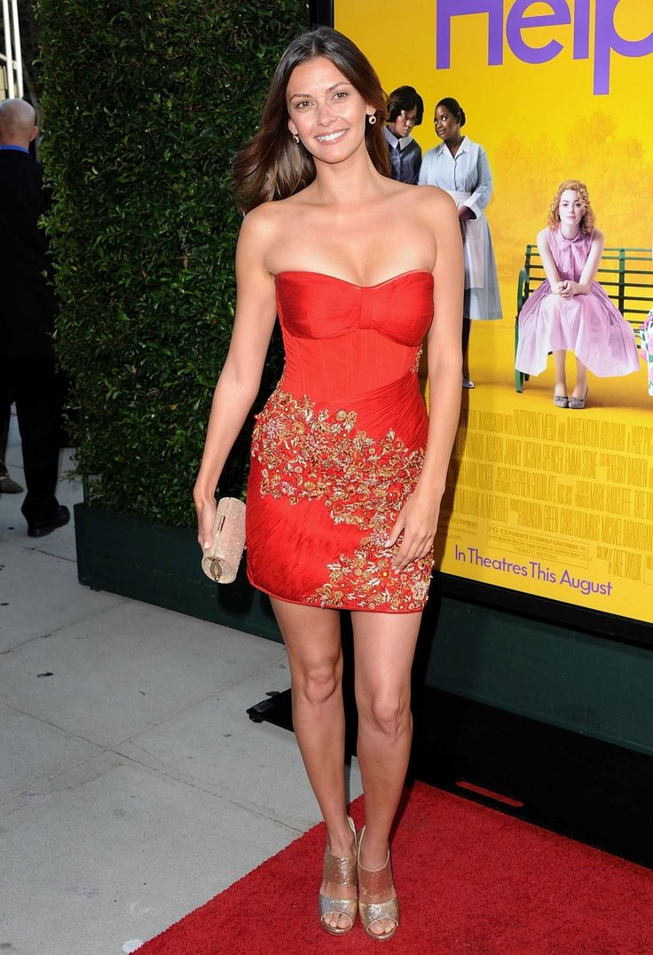 Olga Fonda Help Premiere Bright Red Dress Olga Fonda Help Premiere
