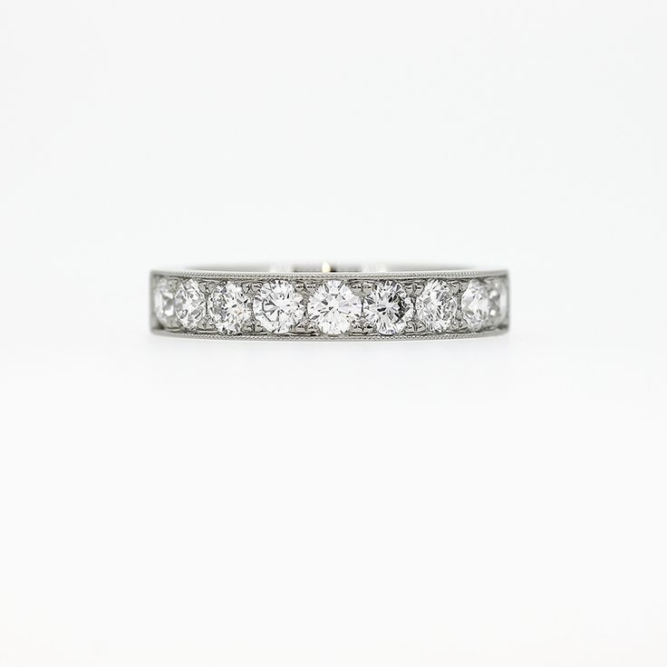 1.08ct Half Eternity Ring with Diamonds in Platinum