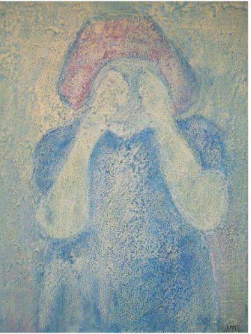 huilend meisje op paneel 65-85             250 euro