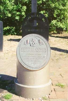 The Steve Bloomer Memorial in Cradley