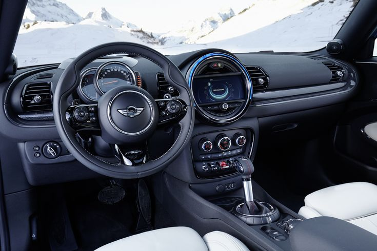 Mini Cooper S Clubman ALL4 interior with 8-speed Steptronic transmission.