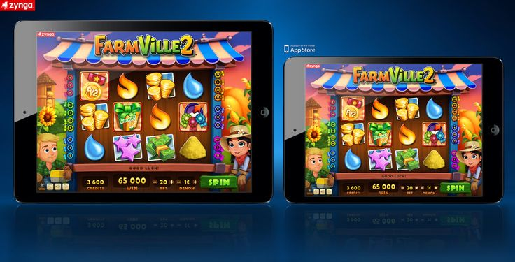 UI design FarmVille 2 mobile slot game by A-Cermak