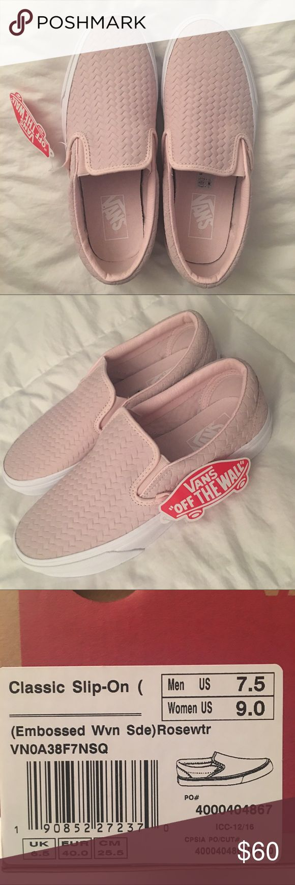 Vans Slip Ons NWT, pink Slip On Vans Vans Shoes