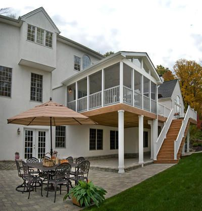 Best 20 two story deck ideas on pinterest two story deck ideas stair slide and second story deck - Two story house plans with covered patios ...