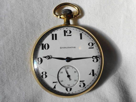 Antique Burlington 21 Jewels Railroad Pocket Watch Estate