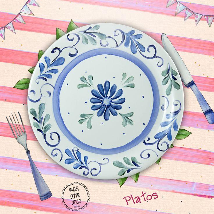 M s de 20 ideas incre bles sobre platos pintados en for Platos de ceramica