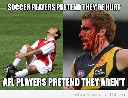 Soccer Players VS AFL Players