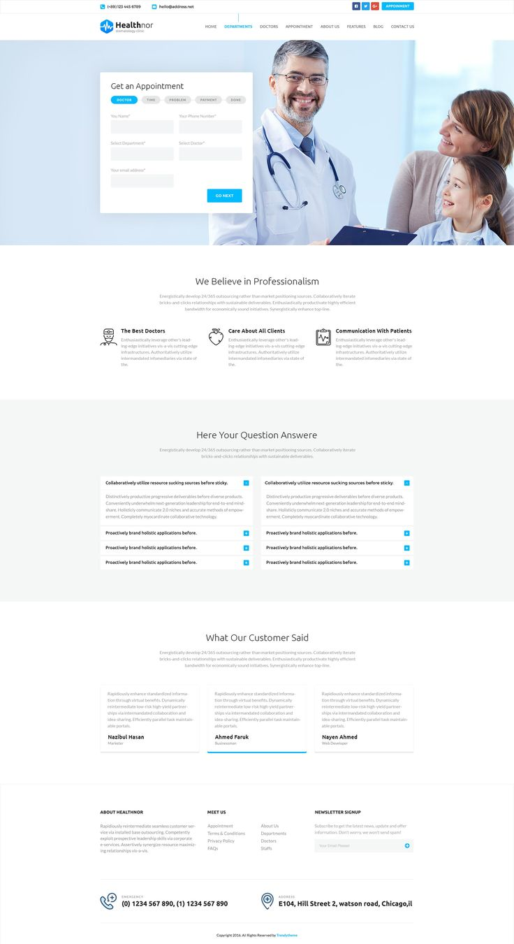 Health Nor – A Responsive Health & Medical HTML Template   |   Medicale HTML5 Template   |   Appointment HTML5   |   Doctor Appointment Design