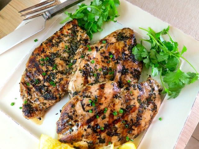 Grilled Lemony Chicken with Fresh Herbs