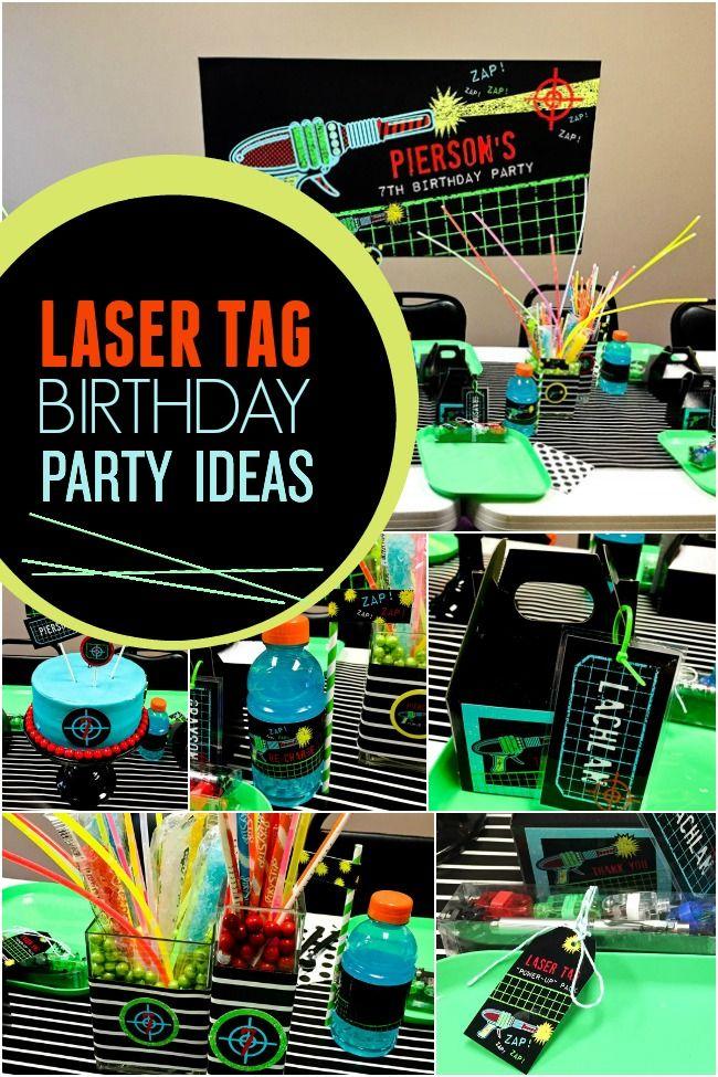 A Boys Laser Tag Birthday Party