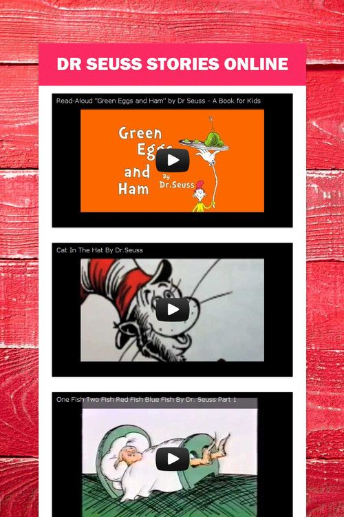 Dr Seuss Stories online. -Repinned by Totetude.com Dr. Seuss' Birthday is March 2nd!