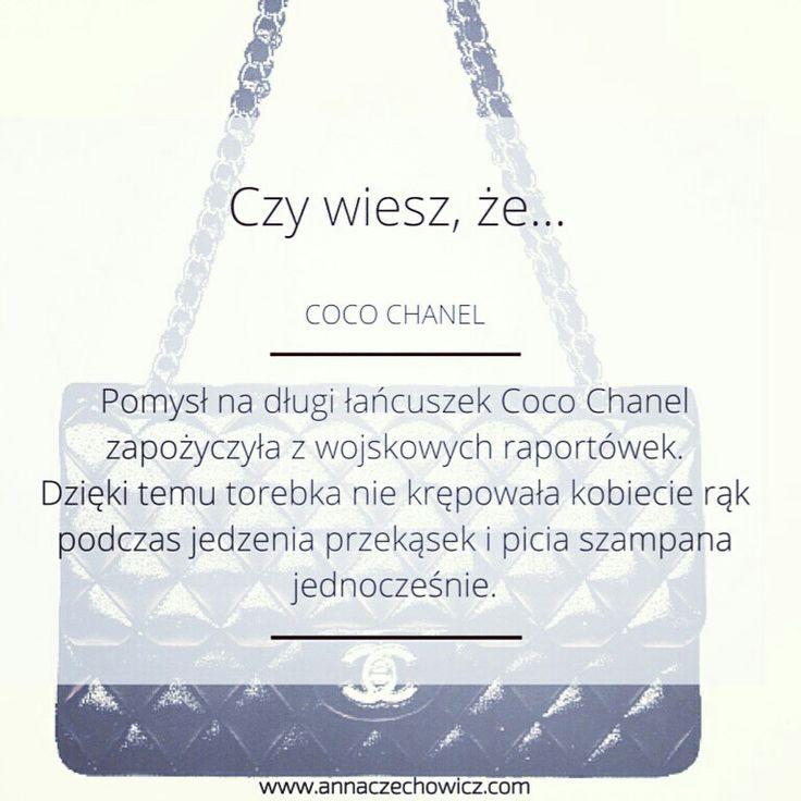 Czy wiesz, że...   Ciekawostka modowa. Historia mody. Coco Chanel. Torebka Chanel.
