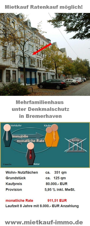 Lovely Mehrfamilienhaus in Bremerhaven zu verkaufen privater Mietkauf Ratenkauf ohne Bank m glich
