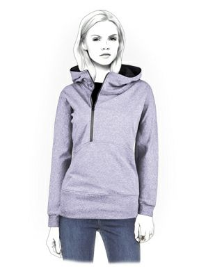 Hoodie - Sewing Pattern #4341. Really cool website! You give them your measurments and they send you a customized pattern.