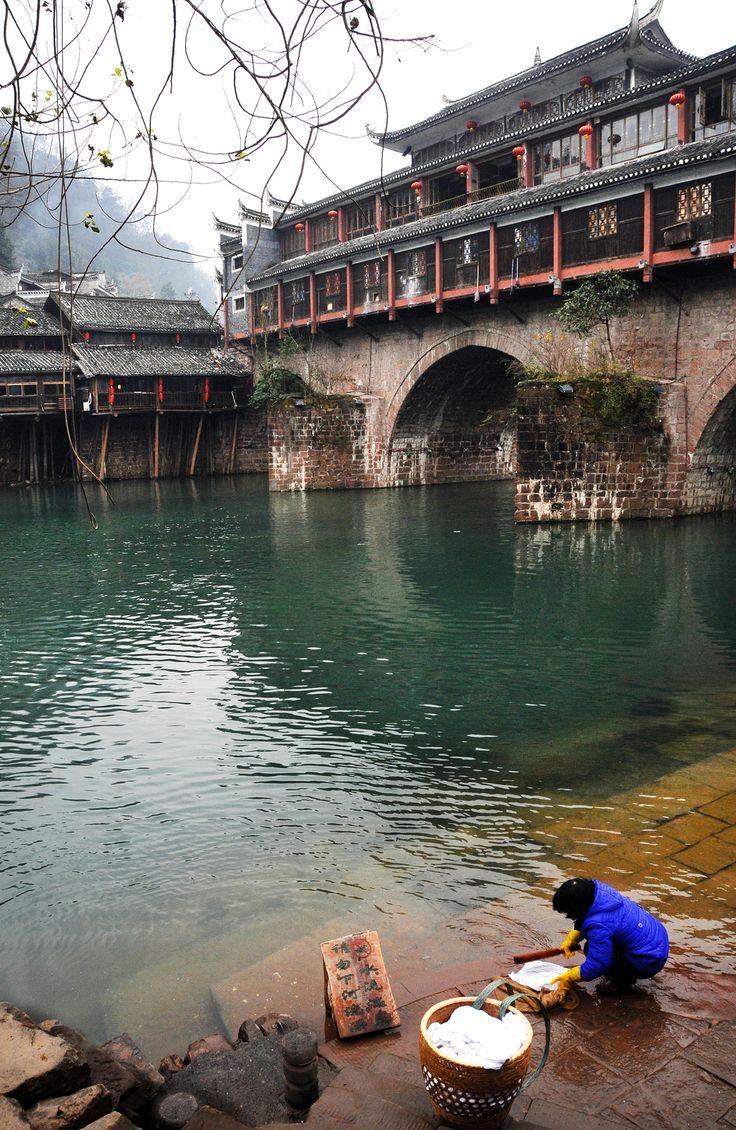 Wash - Phoenix Ancient Town, Hunan, China 湖南 鳳凰古城
