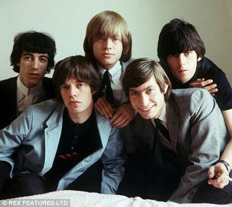 Very young Rolling Stones in photoshoot in 1964, color photo.