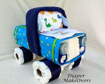 Truck Diaper Cake Baby Boy Diaper Cake Unique by DiaperMakeOvers