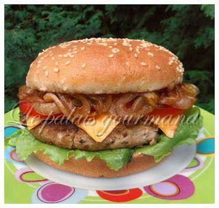 Le palais gourmand: Burger porc et basilic