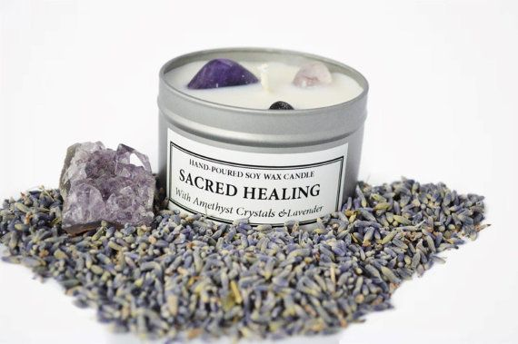 Sacred Healing Soy Wax Candle by PioSoaps on Etsy