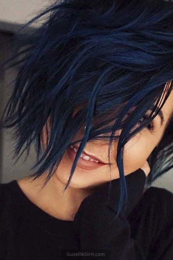 Midnight Blue Hair Color Inspirations For 2020 2020 Uzun Sac Bob Sac Kesimleri Mavi Sac Modelleri