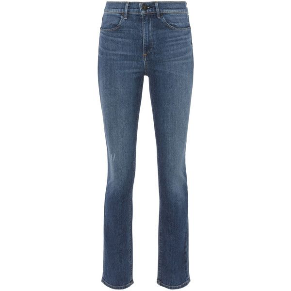 Rag & Bone Cigarette  Jeans (11.840 RUB) via Polyvore featuring jeans, cigarette leg jeans, blue skinny jeans, rag bone skinny jeans, rag bone jeans и cigarette jeans