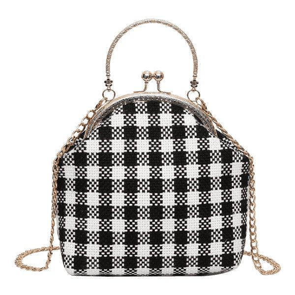 Chain Plaid Crossbody Bag Black ($24) ❤ liked on Polyvore featuring bags, handbags, shoulder bags, zaful, cross-body handbag, crossbody purse, plaid shoulder bag, tartan handbags and chain-strap handbags