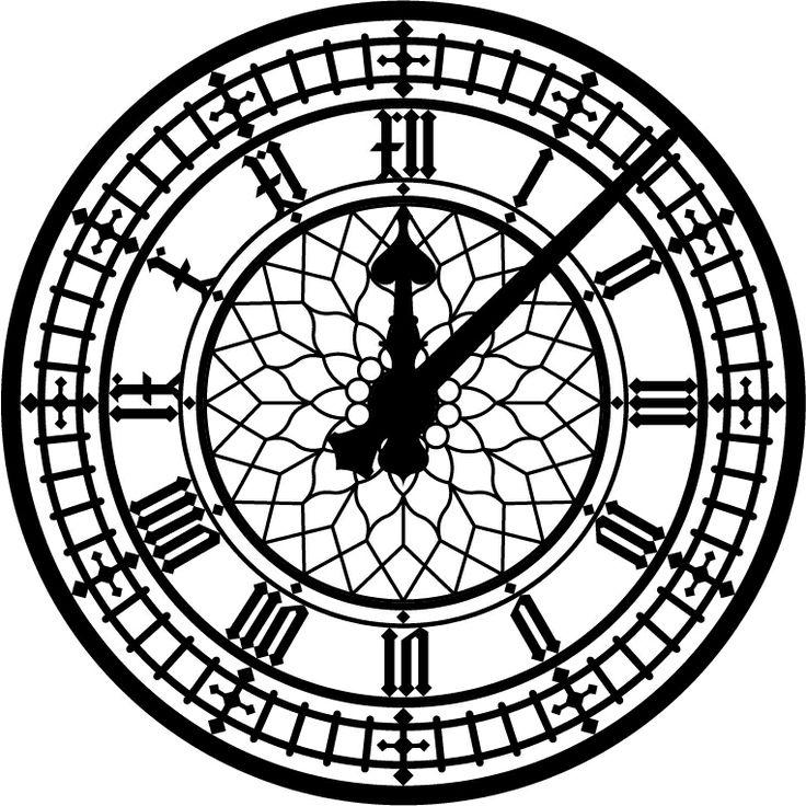 Clock face - Roman numerals | Tattoo - 123.3KB