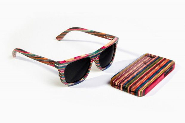 Diamond Supply Co. - 100% Recycled Skateboard Wood Sunglasses & iPhone 5 Cases