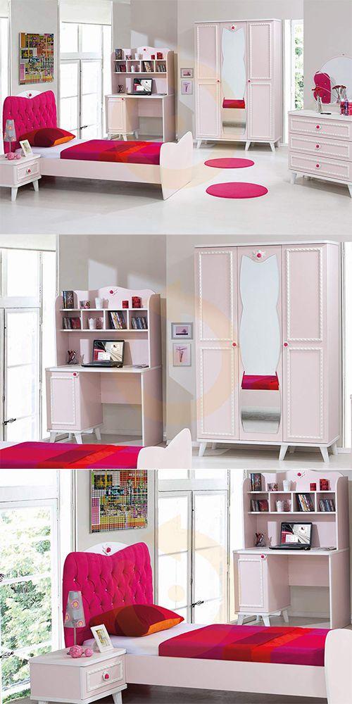 Genç kızlarımızın vazgeçilmezi olacak tasarım Bale Genç Odası Mobilyam Online farkı ile satışta!