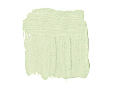 """BENJAMIN MOORE PALE VISTA 2029-60: """"I use spring green as a neutral. It's the color of buds and bulbs popping out of the ground after a long winter — a reassuring color, great in a bedroom. The coolness is therapeutic."""" -Jeffrey Bilhuber"""