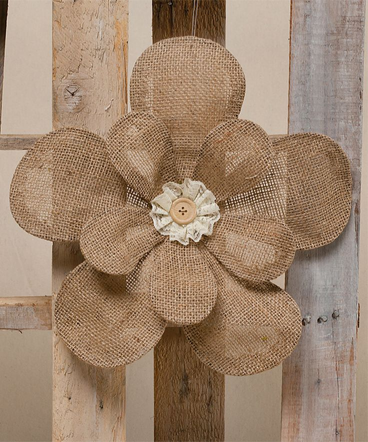 117 best BURLAP FLOWERS images on Pinterest