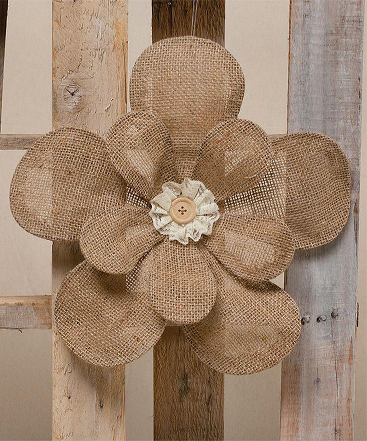 117 best BURLAP FLOWERS images on Pinterest