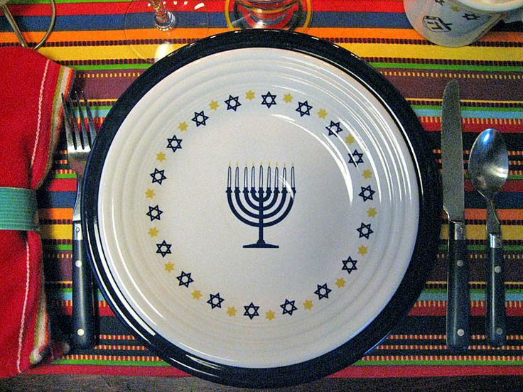 Fiesta® Hanukkah - Eighth Night ~ The decalled white Fiesta luncheon plate and mug join & 60 best Fiesta® / Homer Laughlin China: Hanukkah / Passover images ...
