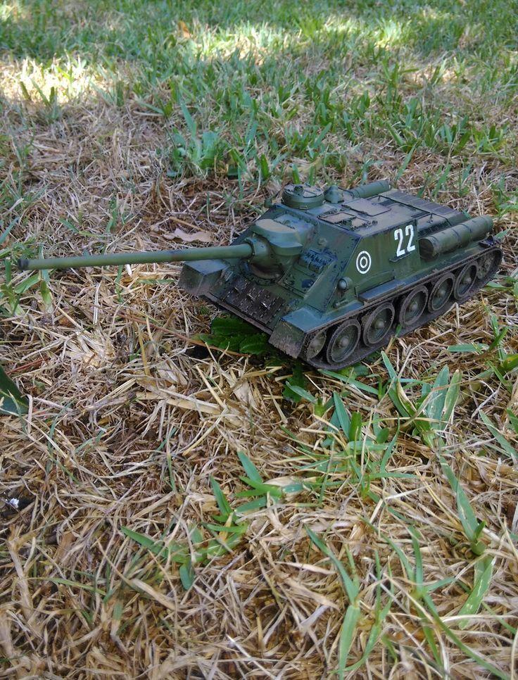 Su 100 heavy self propelled anti tank gun Scale 1:35 By Matthew Jordan