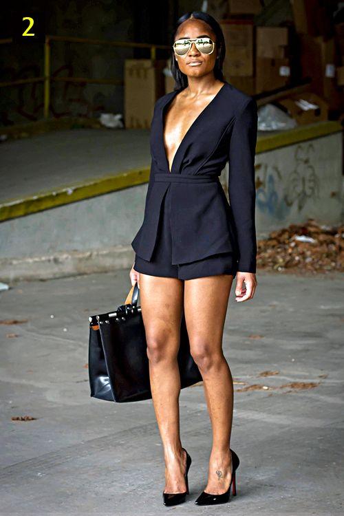black girls wearing shorts