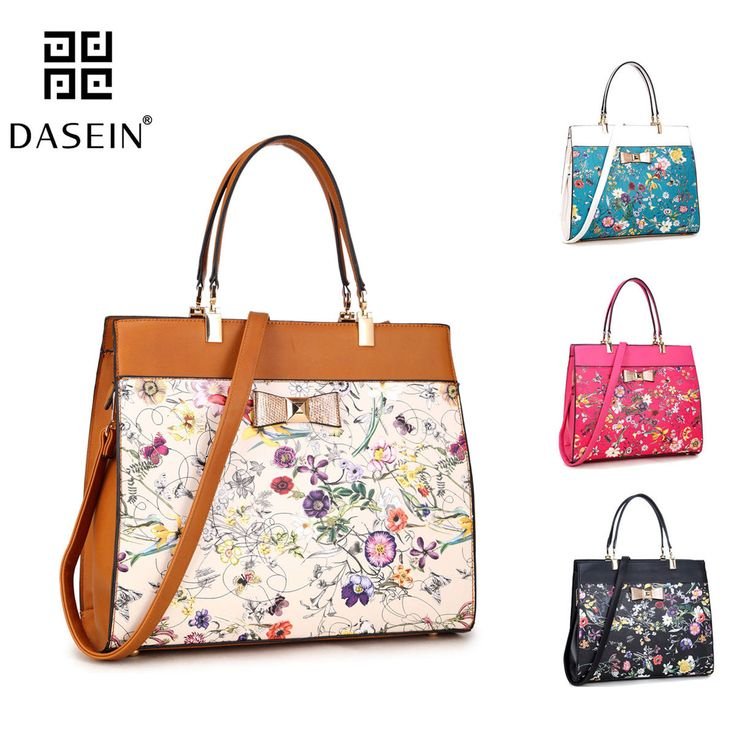 Womens Handbags Leather Satchels Tote Bag Shoulder Bags Flowery Bow Purse