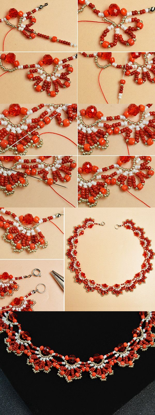 Like this red beaded necklace?The tutorial will be published by LC.Pandahall.com soon.