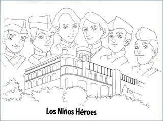 Dibujos de los Niños Héroes para colorear