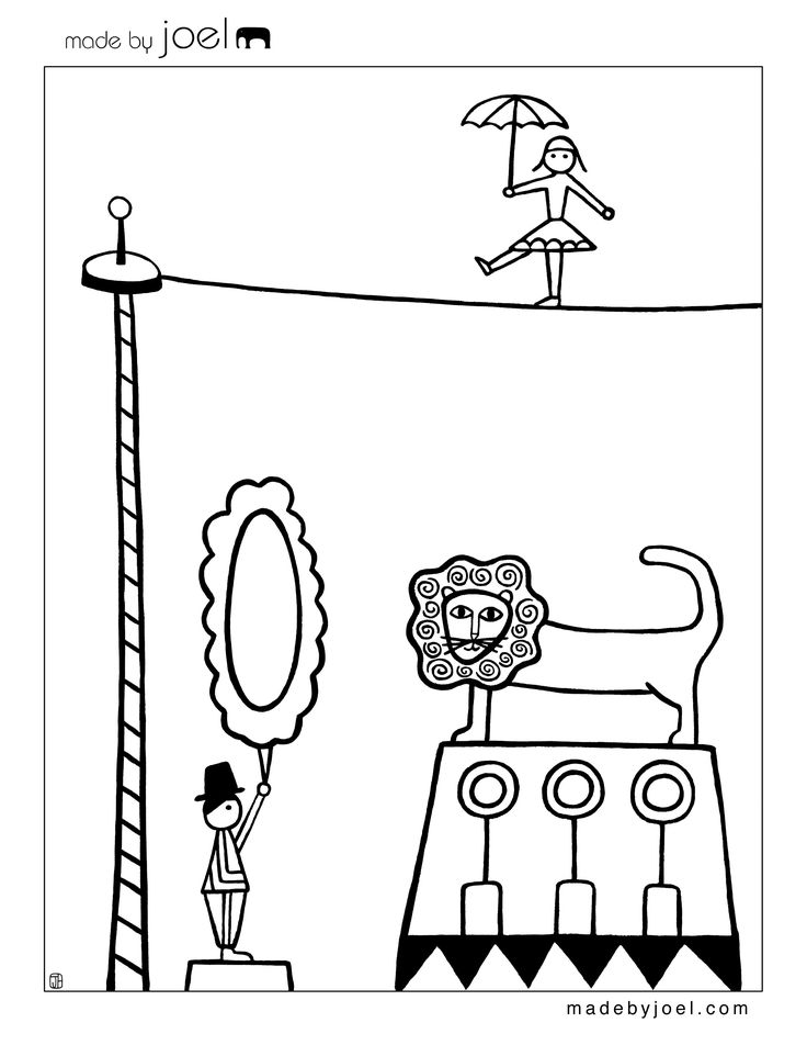 Made by Joel » New Circus Coloring Sheets!