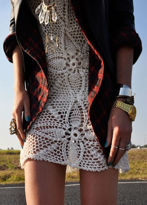 : Flannels Dresses, Crochet Dresses, Style, Clothing, Knits Dresses, Flower Trees, Hippie Bohemian Boho, Fashion Inspiration, Lace Dresses
