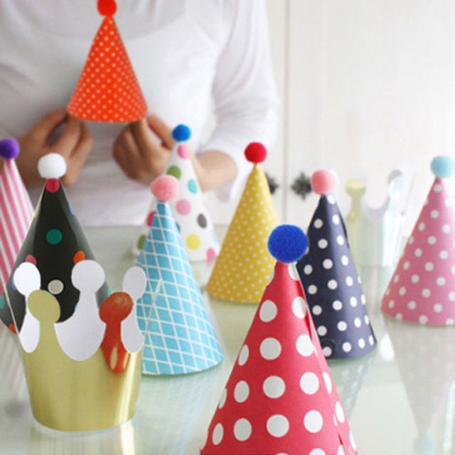 11pcs/set Party Celebration Korean Cute Party Hats Birthday Hat Festive Party Photograph Items Birthday Party Decorations Kids