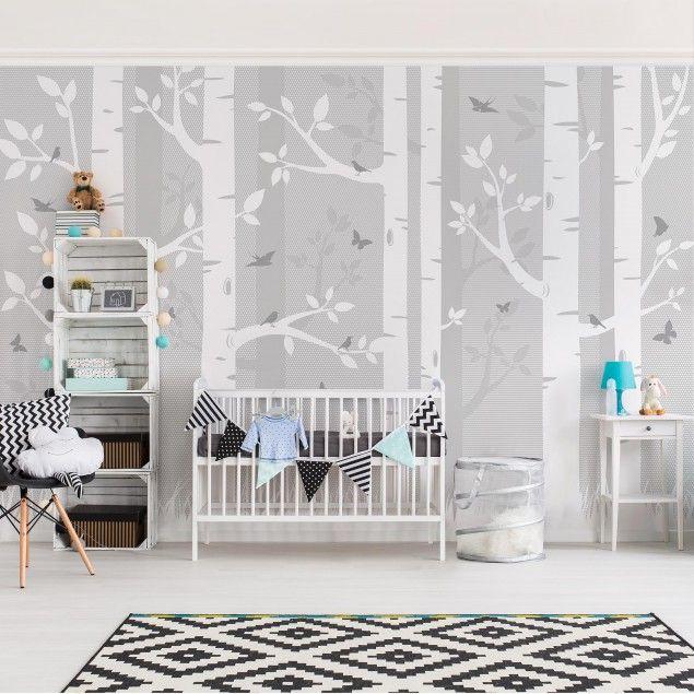 best 25+ babyzimmer tapete ideas on pinterest - Fototapete Grau Wei